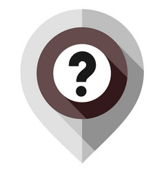 Map pin question mark gps pointer folded from vector