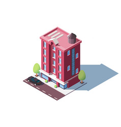 mid rise urban house vector image