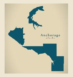 modern city map - anchorage alaska city of the usa vector image