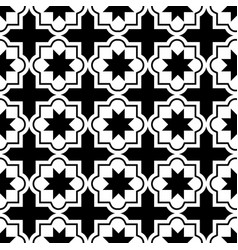 moroccan tiles design seamless black pattern vector image