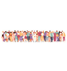 Multicultural crowd people vector