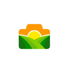 Photo farm logo icon design vector