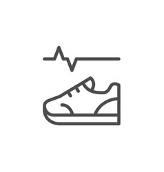 physical activity line icon vector image
