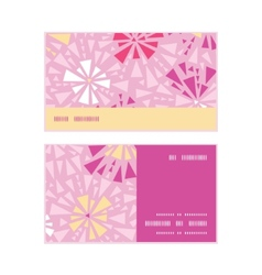 Pink abstract triangles horizontal stripe frame vector