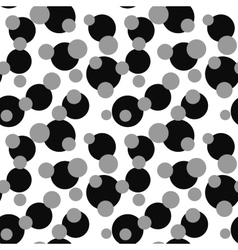 Polka dot on white seamless pattern vector image