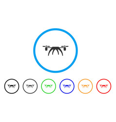 Rotorcraft rounded icon vector