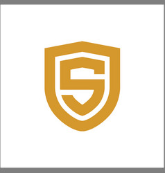 S shield logo gold vector