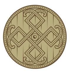 Scandinavian celtic design viking decorated vector