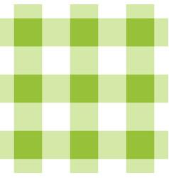 seamless white dark and bright green tartan vector image