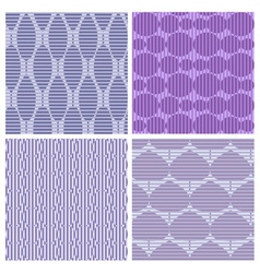 Set of 4 abstract seamless pattern vector