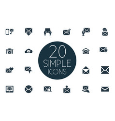 Set simple mailing icons vector