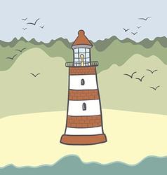 ShipLighthouse16 vector image