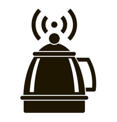 smart kettle icon simple style vector image