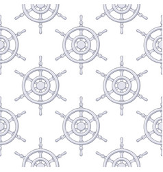 steering wheels as seamless pattern gray drawing vector image
