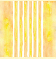 stripes painted watercolor yellow vector image