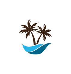 summer logo icon template vector image