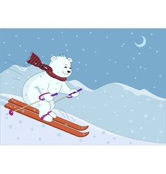 Teddy-bear skies in mountains night vector