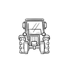 tractor hand drawn sketch icon vector image