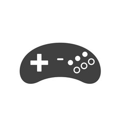 video game joystick icon silhouette black isolat vector image