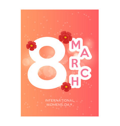 vintage style 8 march design elements 8 march vector image