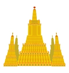Virupaksha temple icon cartoon style vector image