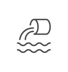 wastewater line icon vector image