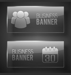 Web business horizontal banners vector