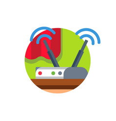 Wireless network wifi router vector
