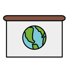 World map planet in paper board vector