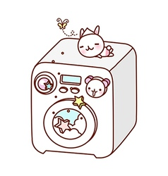 A washing machine is placed vector image