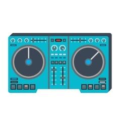 Dj music equipment icon vector image vector image