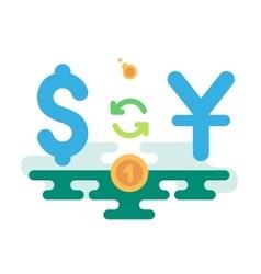 Dollar Yuan Currency Exchange vector image