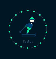 Flat icons on theme of andorra escaldes vector
