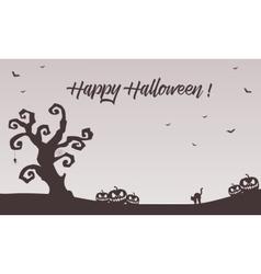 Halloween backgrounds pumpkins cat bat vector image vector image