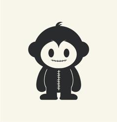 Monkeystein 1 vector image vector image