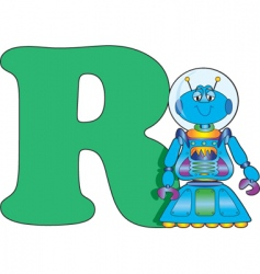 R is for robot vector image vector image