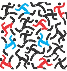 Runnig people vector image vector image