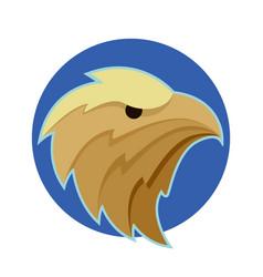 bald eagle or hawk head vector image
