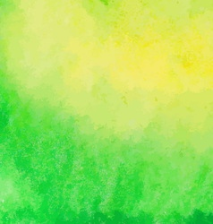 Green and yellow watercolor paint background vector image