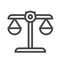 libra thin line icon vector image