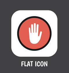 of safety symbol on palm flat vector image vector image
