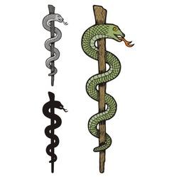 One snake caduceus vector