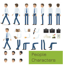 people characters create your businessman set vector image