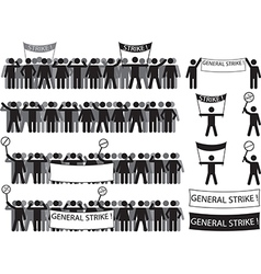 Protestant people vector image