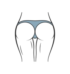 Sexy panties icon women ass in thong vector image vector image