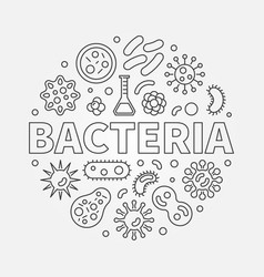 bacteria round symbol made with different vector image vector image