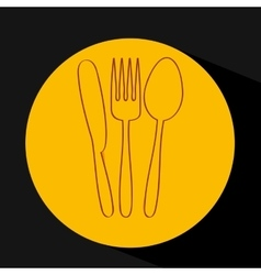 cutlery set design vector image