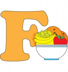 F is for fruit vector image