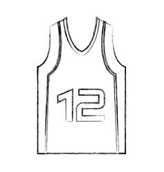 basketball shirt uniform icon vector image