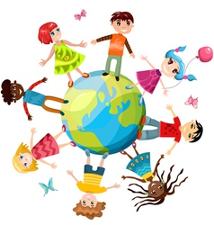 children ih the world vector image vector image